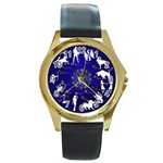 horoscope - Round Gold Metal Watch
