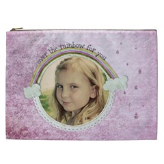 Over The Rainbow By Marcee Duggar   Cosmetic Bag (xxl)   Fd01aomzgpp7   Www Artscow Com Front