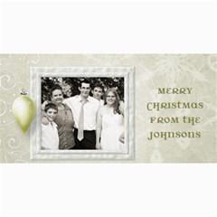 Snow Ornament Christmas By Marcee Duggar   4  X 8  Photo Cards   5ai2hzhzpr02   Www Artscow Com 8 x4 Photo Card - 4