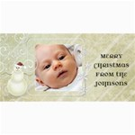 Snowman Photo Christmas Card - 4  x 8  Photo Cards