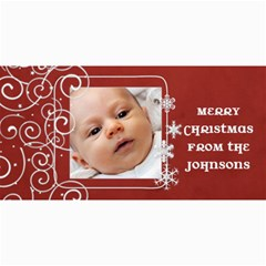 Red Swirl Photo Christmas Card By Marcee Duggar   4  X 8  Photo Cards   Btt7vb4d9hqy   Www Artscow Com 8 x4 Photo Card - 3
