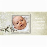 Photo Christmas Card Snow Flakes - 4  x 8  Photo Cards