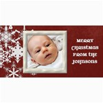 ChristmasCard Red Snowflake - 4  x 8  Photo Cards