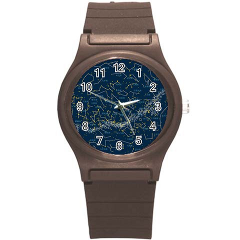 Horoscope, Star By Divad Brown   Round Plastic Sport Watch (s)   5znvn9n6xsjd   Www Artscow Com Front