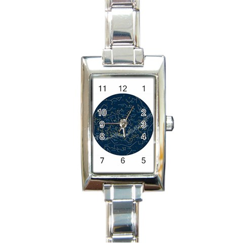 Horoscope By Divad Brown   Rectangle Italian Charm Watch   2f7g60lw69u1   Www Artscow Com Front