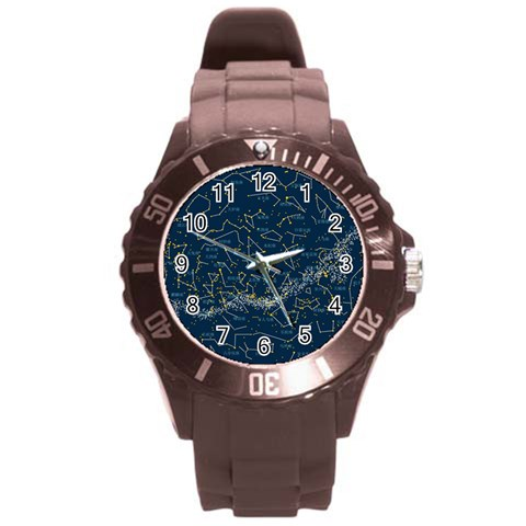 Horoscope By Divad Brown   Round Plastic Sport Watch (l)   8g3b6kmbj793   Www Artscow Com Front