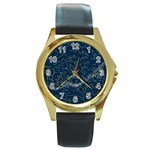 horoscope, star - Round Gold Metal Watch