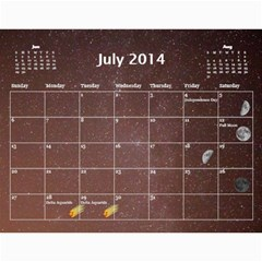 2014 Astronomical Events Calendar By Bg Boyd Photography (bgphoto)   Wall Calendar 11  X 8 5  (12 Months)   3bk6ra531e72   Www Artscow Com Jul 2014