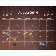 2014 Astronomical Events Calendar By Bg Boyd Photography (bgphoto)   Wall Calendar 11  X 8 5  (12 Months)   3bk6ra531e72   Www Artscow Com Aug 2014