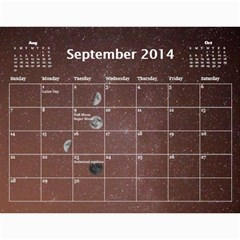 2014 Astronomical Events Calendar By Bg Boyd Photography (bgphoto)   Wall Calendar 11  X 8 5  (12 Months)   3bk6ra531e72   Www Artscow Com Sep 2014