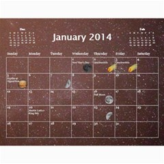 2014 Astronomical Events Calendar By Bg Boyd Photography (bgphoto)   Wall Calendar 11  X 8 5  (12 Months)   3bk6ra531e72   Www Artscow Com Jan 2014
