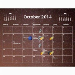 2014 Astronomical Events Calendar By Bg Boyd Photography (bgphoto)   Wall Calendar 11  X 8 5  (12 Months)   3bk6ra531e72   Www Artscow Com Oct 2014