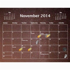 2014 Astronomical Events Calendar By Bg Boyd Photography (bgphoto)   Wall Calendar 11  X 8 5  (12 Months)   3bk6ra531e72   Www Artscow Com Nov 2014
