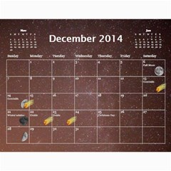 2014 Astronomical Events Calendar By Bg Boyd Photography (bgphoto)   Wall Calendar 11  X 8 5  (12 Months)   3bk6ra531e72   Www Artscow Com Dec 2014