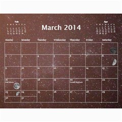 2014 Astronomical Events Calendar By Bg Boyd Photography (bgphoto)   Wall Calendar 11  X 8 5  (12 Months)   3bk6ra531e72   Www Artscow Com Mar 2014