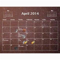 2014 Astronomical Events Calendar By Bg Boyd Photography (bgphoto)   Wall Calendar 11  X 8 5  (12 Months)   3bk6ra531e72   Www Artscow Com Apr 2014