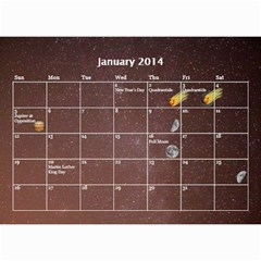 2014 Astronomical Events Calendar By Bg Boyd Photography (bgphoto)   Wall Calendar 8 5  X 6    295k9niihodj   Www Artscow Com Jan 2014