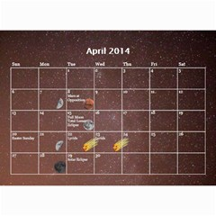 2014 Astronomical Events Calendar By Bg Boyd Photography (bgphoto)   Wall Calendar 8 5  X 6    295k9niihodj   Www Artscow Com Apr 2014