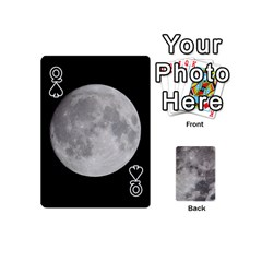 Queen Mini Moon Cards By Bg Boyd Photography (bgphoto)   Playing Cards 54 (mini)   Eq7t3cf6y3d7   Www Artscow Com Front - SpadeQ