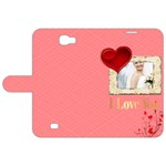 love - Samsung Galaxy Note 2 Leather Folio Case