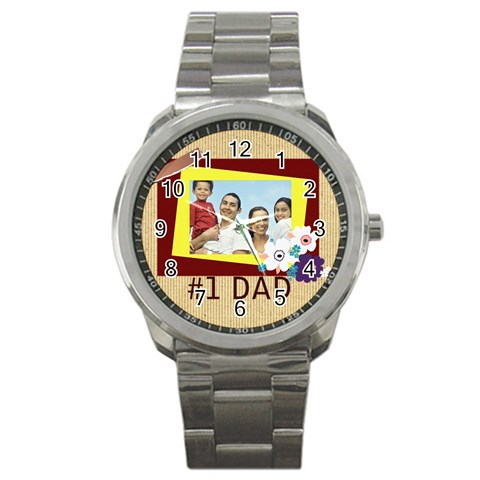 Father By Dad   Sport Metal Watch   Rn4qemmex61i   Www Artscow Com Front