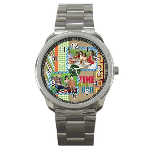Father By Dad   Sport Metal Watch   U3f4ndi57jic   Www Artscow Com Front