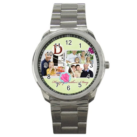 Father By Dad   Sport Metal Watch   Woqst59o7x7n   Www Artscow Com Front