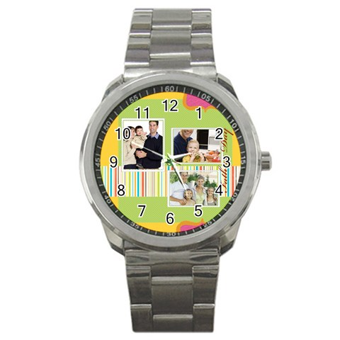 Father By Dad   Sport Metal Watch   Xoivms1l7e9q   Www Artscow Com Front