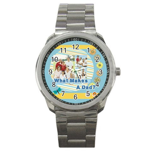 Father By Dad   Sport Metal Watch   Y1zgin1lt32f   Www Artscow Com Front
