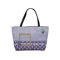 Purple Polka Dots Purse By Kathi Bothwell   Classic Shoulder Handbag   Al4w4bf9chbr   Www Artscow Com Back