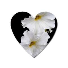 White Peonies   Large Sticker Magnet (heart) by Elanga