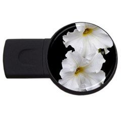 White Peonies   1Gb USB Flash Drive (Round) by Elanga