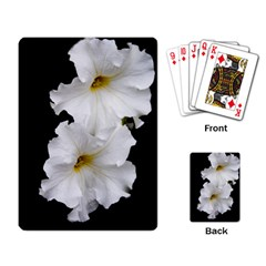 White Peonies   Standard Playing Cards by Elanga
