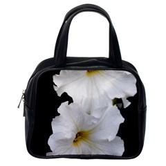 White Peonies   Single Sided Satchel Handbag