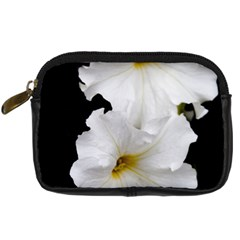 White Peonies   Compact Camera Case by Elanga