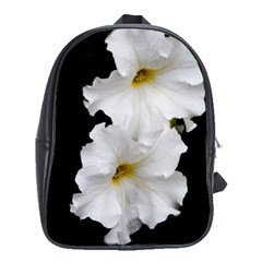White Peonies   Large School Backpack by Elanga