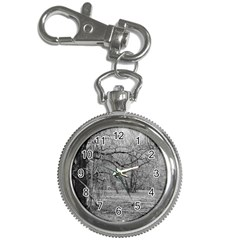 Black And White Forest Key Chain & Watch
