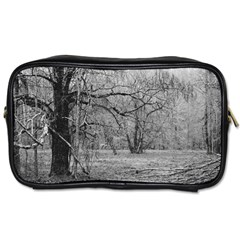 Black And White Forest Twin Sided Personal Care Bag by Elanga