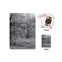 Black And White Forest Playing Cards (mini) by Elanga