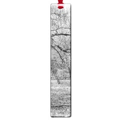 Black And White Forest Large Book Mark by Elanga