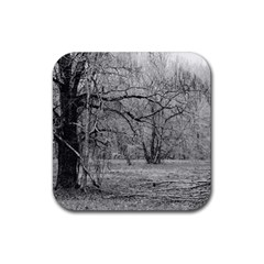 Black And White Forest 4 Pack Rubber Drinks Coaster (square) by Elanga
