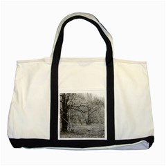 Black And White Forest Two Toned Tote Bag by Elanga