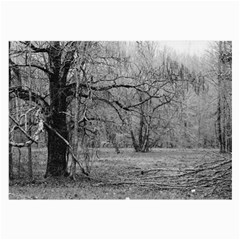 Black And White Forest Single Sided Handkerchief