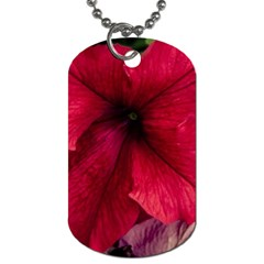 Red Peonies Single Sided Dog Tag