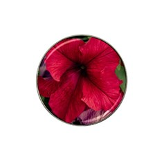 Red Peonies Golf Ball Marker (for Hat Clip) by Elanga