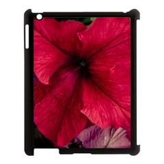 Red Peonies Apple Ipad 3/4 Case (black)