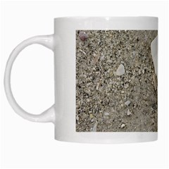 Quarter Of A Sand Dollar White Coffee Mug by Elanga