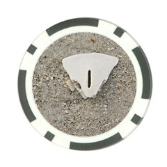 Quarter Of A Sand Dollar Poker Chip