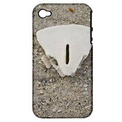 Quarter Of A Sand Dollar Apple Iphone 4/4s Hardshell Case (pc+silicone) by Elanga