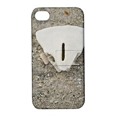 Quarter Of A Sand Dollar Apple Iphone 4/4s Hardshell Case With Stand by Elanga